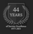 44 Years of Service Excellence 1977-2021
